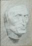 Tête, étude, env. 1950 (crayon, 34 x 24 cm, coll. part. MR)