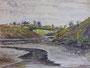 Vallée de la Penfeld, env. 1948 (aquarelle, 25 x 32.5 cm, coll. part. MR)