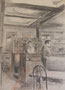 Café, env. 1960 (dessin, 32 .5 x 25 cm, coll. part. MR)