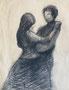 Jacques et Eliane dansant, 1983 (crayon, 32 x 25  cm, coll. part. EJB)