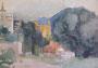Paysage, env. 1980 (aquarelle, 35 x 25 cm, coll. part. MR)