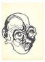 Tête, env. 1980 (feutre, 20 x 15 cm, coll. part. MR)