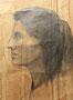 Profil Janie, 1956 (dessin, 39 x 27 cm, coll. part. JR)