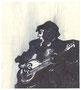 Guitariste, env. 1980 (feutre, 18.5 x 16.5 cm, coll. part. MR)