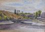 Rive de la Penfeld, 1949 (aquarelle, 40 x 32 cm, coll. part. MR)