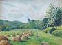 Meules de foin, 1949 (aquarelle, 38 x 29 cm, coll. part. MR)