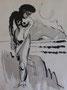 Vagues, env. 1948 (dessin, 25 x 32.5 cm, coll. part. MR)