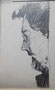 Profil jeune homme, env. 1950 (crayon, 12 x 7 cm, coll. part. MR)