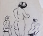 Nus, env. 1948 (dessin, coll. part. MR)