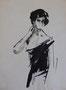 Etude femme, env. 1950 (dessin, 21 x 27 cm, coll. part. MR)