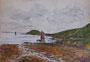 Marée basse, 1949 (aquarelle, 40 x 30 cm, recto de Attelage, coll. part. PLS)