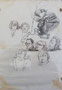 Les gens du Chassay, env. 1970 (crayon, 28 x 21 cm, coll. part. MR)