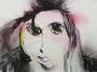 Visage aux yeux jaunes, env. 1990 (gouache, 65 x 48 cm, coll. part. MR)