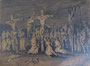 Crucifixion, env. 1946 (dessin, 31 x 24.5 cm, coll. part. MR)