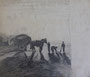 Attelage, env. 1980 (fusain, 40 x 30 cm, verso de Marée basse, coll. part. MR)