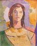 Janie façon Matisse, env. 1960  (gouache 65 x 50 cm, coll. part. JR)