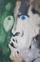 Regard bleu, env. 1990 (gouache sur carton, 89 x 59 cm, coll. part. MR)