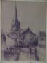 Eglise de Voorschoten en Hollande, 1975 (crayon, coll. part.)