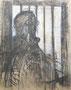 Autoportrait en prison, env. 1980 (dessin sur carton, 73 x 51 cm, coll. part. MR)