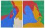"""Sans titre """" groupe Equipo 57"""", 1957 (gouaches, 27 x 21 cm x 2, coll. Musée d'art et d'histoire de Cholet.Inscrit à l'inventaire n° 2015.016.1-2)"""