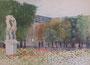 Paris, jardin de l'observatoire, 1959 (aquarelle, coll. part. MR)