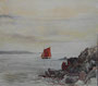 Rade de Brest, 1949 (aquarelle, 24 x 27 cm, coll. part. MR)
