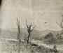 Paysage sépia, env. 1950 (encre, 24 x 19.5 cm, coll. part. MR)