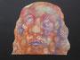 Tête, env. 1990 (gouache et craie, 43 x 41 cm, coll. part. MR)