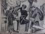 Les joueurs, env. 1950 (dessin, 24 x 17 cm., coll. part. GR)
