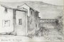 Chalabre, 1983 (crayon, 23 x 15 cm, coll. part. MR)