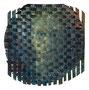 o.T. (Selbstporträt), 23,5 x 23,5 cm, Öl auf Baumwolle, Verflechtung, 2017