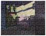 o.T., 120 x 155 cm, Öl und Filzstift auf Baumwolle, 2015