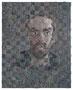 o.T. (Selbstporträt), 50 x 40 cm, Öl auf Baumwolle, Verflechtung, 2018