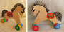 лошадка. деревянная заготовка, фломастеры