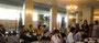 被災しつつ地元で「石巻復興支援ネットワーク やっぺす石巻」の活動を続ける萱場さんの話を聞く(石巻グランドホテル)