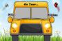 Kinder - Autoschild - On Tour - gelb