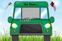 Kinder - Autoschild - On Tour - grün