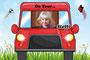 Kinder - Autoschild - On Tour - rot