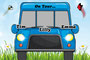Kinder - Autoschild - On Tour - blau