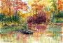 """""""Resteverwertung"""", Herbstfantasie, 12,5 x 18 cm"""