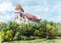 """""""Burg Liechtenstein"""", 24 x 30 cm"""