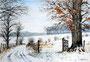 """""""Winter in Niederösterreich, 24 x 34 cm"""