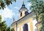 Kirche in Wien/Rodaun, 17 x 24 cm