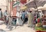 Orientalischer Markt, 12 x 18 cm