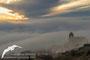 La niebla cubre Santa Eulalia la Mayor