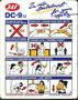 JAT DC-9-32-Safetycard/Courtesy: JAT