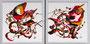 Acryl auf Leinwand - 2x50x50 - 185BS