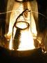 Verrussender Glühkörper bei zu fetter Verbrennung. Abhilfe: Lampe etwas runterdimmen