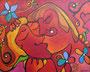 The Tender Kiss, 100 x 80 cm, Acryl
