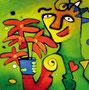 The Pointsettia, 100 x 100 cm, Acryl   •   VERKAUFT